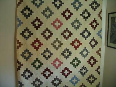 Antique Pieced Quilt 1890  Great Fabric Great Quilting
