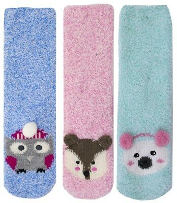 Foxbury Ladies Fun Animal Slipper Socks UK 4-7
