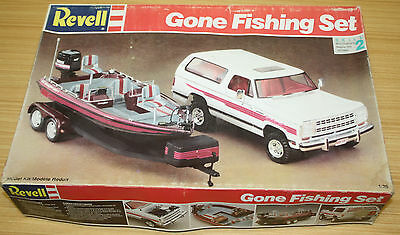 Vintage Revell Gone Fishing Set - Box Only