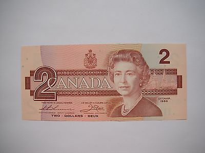 1986 CANADA Canadian $2 Two Dollar Bill Note GEM CU Prefix EGD9800491