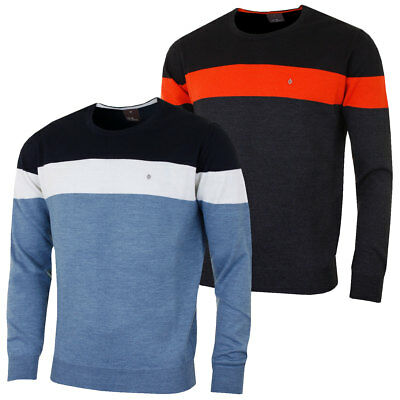 Oscar Jacobson 2017 Mens Niels Pin Roundneck Sweater Durable Luxury Soft Jumper
