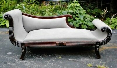 superbly designed single end Victorian solid Mahogany sofa fainting couch