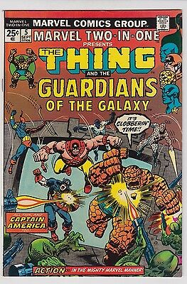 MARVEL TWO-IN-ONE #5 VF-  2nd GUARDIANS OF THE GALAXY APPEARANCE!