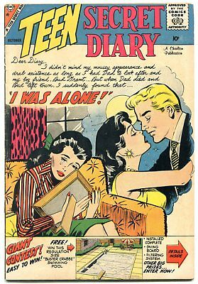 Teen Secret Diary #1 1959- Joined a Teen-age Gang- Charlton Romance