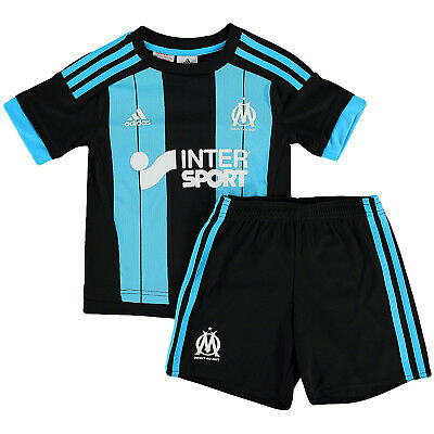 adidas Performance Olympique Marseille Away Kids Boys Replica Football Mini Kit
