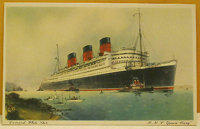 R.M.S. Queen Mary 81,237 tons Length 1,019 feet Breadth 118 feet Postcard