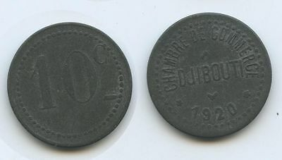 G1122 - Djibouti Colony 10 Centimes 1920 KM#Tn2 Chambre de Commerce
