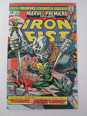Marvel Premiere #21 First Full App Misty Knight Vf Iron Fist 1975 Comic