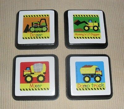 TONKA TRUCK Wall Plaque Decor Bedding Crib Nursery Art Hangs Construction