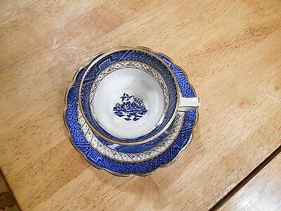 Booths Real Old Blue Willow Cup & Saucer A8025