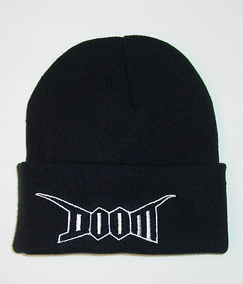 Doom - Beanie with embroidered logo (crust punk d-beat)