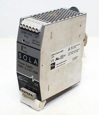Sola SDN-2.5-24-100P Power Supply -USED