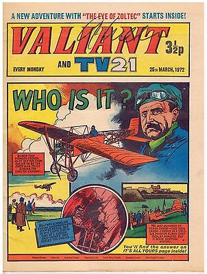 VINTAGE BRITISH COMIC: 'VALIANT and TV 21': 25th MARCH 1972