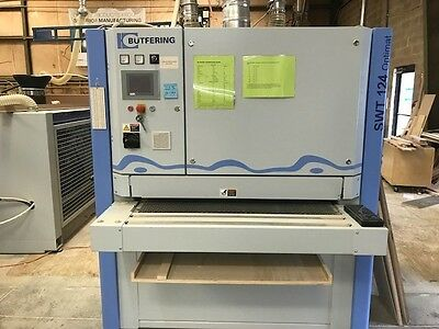 "Butfering SWT 124 RC Optimat Wide Belt Sander 2014, 7"" Touchscreen Control"