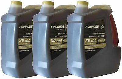 OEM BRP Johnson Evinrude E-Tec 3-Gallon Case XD 100 Outboard Motor Oil 0764357