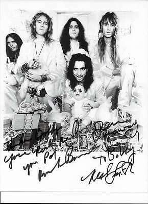 ALICE COOPER Band Signed Autographed 8x10 B&W PHOTO Bruce, Dunaway, Smith