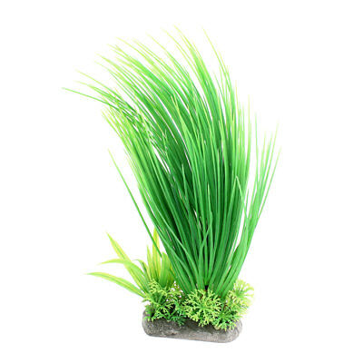 Aquarium Fish Tank Plastic Emulational Water Plant Grass Ornament Green