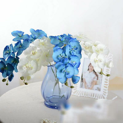 Artificial Flowers Silk Butterfly Orchid Fake Phalaenopsis Bouquet Garland Decor