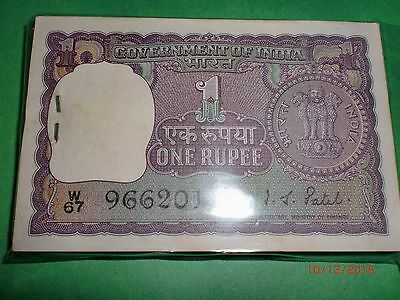 - India Paper Money- Full Pack -  Rupee One - Rare -1971 - I.g.patel - A-24