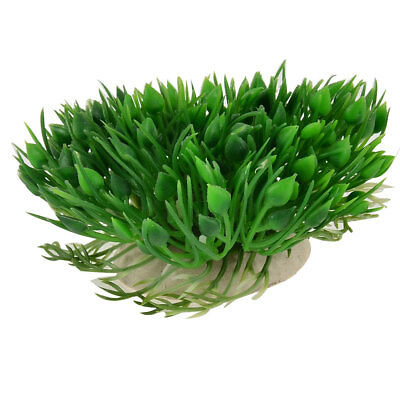 Aquarium Fish Tank Manmade Water Plastic Grass Plant Ornament Green