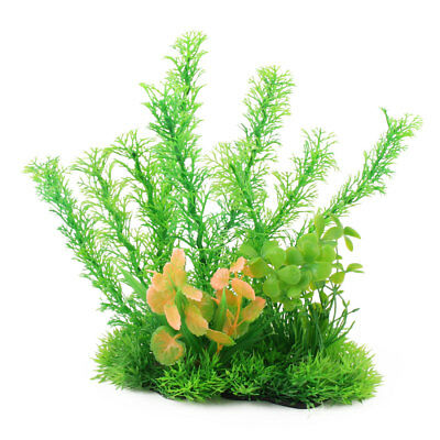 Aquarium Fish Tank Plastic Underwater Leaves Water Grass Plant Ornament Green
