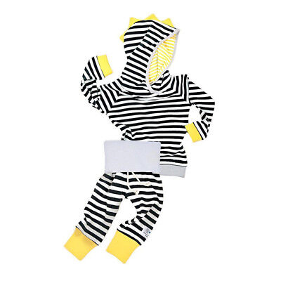 Cute Newborn Baby Autumn Clothes Fashion Striped Sweater Suit Long Sleeve 0-24M