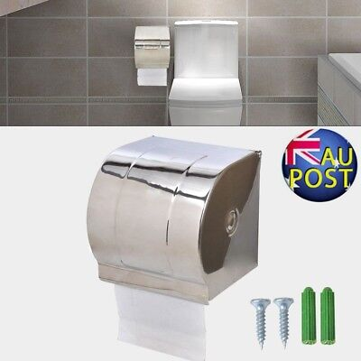 Waterproof Toilet Roll Tissue Paper Dispenser Holder Wall Mount Stainless AU