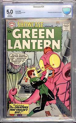 Showcase # 24  Third appearance SA Green Lantern !  CBCS 5.0  scarce book!