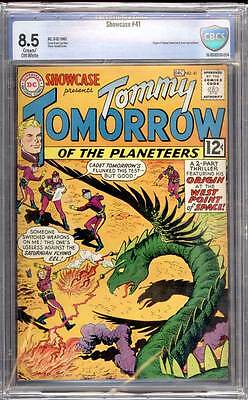Showcase # 41  Origin of Tommy Tomorrow !  CBCS 8.5  scarce book!