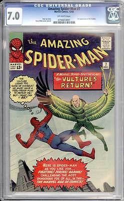 Amazing Spider-Man # 7  2nd appearance of the Vulture !  CGC 7.0  scarce book!