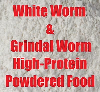High Protein Powdered White/Grindal Worm Feed - Culture Your Own Live Fish Food