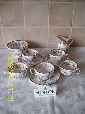 Parcel Of Minton 'Cuckoo' Pattern (3934) Items 5 Cups & 3 Saucers Jug & Bowl