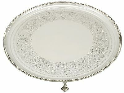 Victorian Sterling Silver Salver 1890s