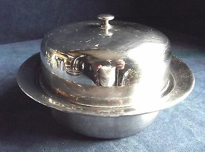 """GOOD Large ~ SILVER Plated ~ 8"""" Muffin SERVING DISH ~ c1930 by Plato"""