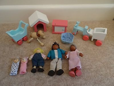 Good Quality Wooden Dolls House Pink White Furniture Bundle X23 Vgc Picclick Uk