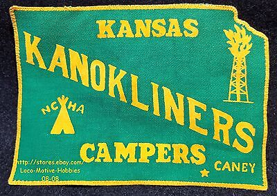 LMH Patch KANOKLINERS Camping Club  NCHA National Campers Hikers FCRV KS  8-3/4""