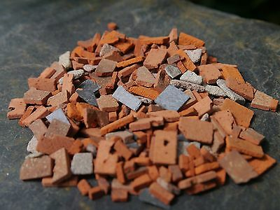 1 40g Bag 1:24th Scale REAL Brick & Stone Miniature Builders Rubble (15sq ins)