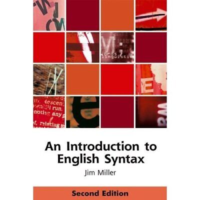An Introduction to English Syntax (Edinburgh Textbooks  - Paperback NEW Miller,