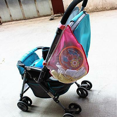 Baby Stroller Seat Pocket Hanging Mesh Bag Infant Trolley Storage Basket Net