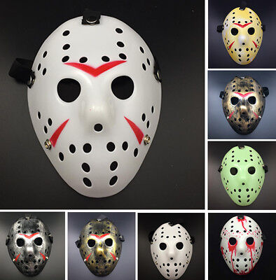 Jason Voorhees Friday The 13th Horror Movie Hockey Mask Halloween Cosplay Porous