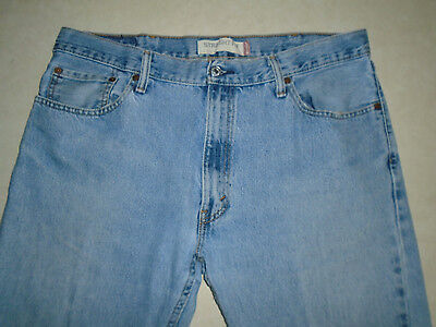 Levi Strauss Brand Mens 505 Straight Fit Rugged Denim Light Blue Jeans Size 38