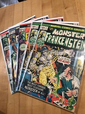 The Monster of Frankenstein Lot of Comic Books 5 #1 (Qty 2) #2 #5 #11