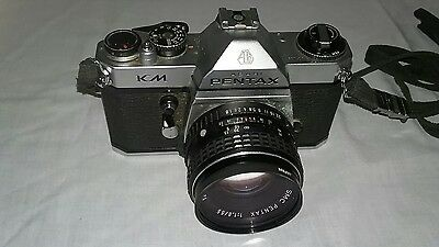 PENTAX ASAHI KM 35mm SLR FILM CAMERA Body VTG