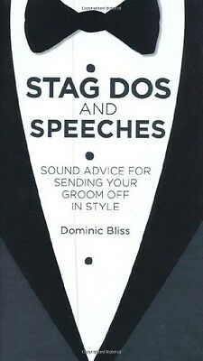 Very Good, Stag Dos and Speeches, Dominic Bliss, Book
