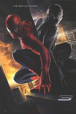 """SPIDERMAN 3 """"A"""" EMBOSSED 11.5x17 PROMO MOVIE POSTER"""