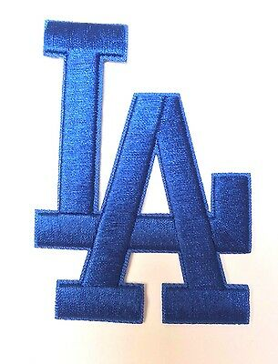 Los Angeles Dodgers L.A. Letters Blue Jersey Patch Iron on