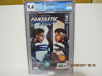 Ultimate Fantastic Four #21 Variant Cgc 9.4 1St Appearance Marvel Zombies