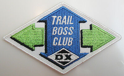 D-X DX Oil Gasoline Gas Trail Boss Club Patch Vintage Advertising New Old Stock