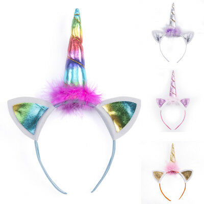 Magical Unicorn Horn Head Party Kids Hair Headband Fancy Dress Cosplay Gifts 1PC