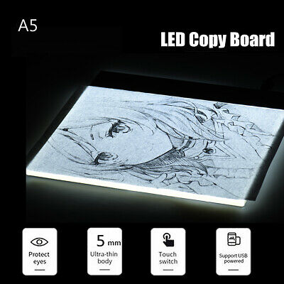 Portable A5 LED Light Box Drawing Sketching Tracing Copy Stencil Board Pad Panel